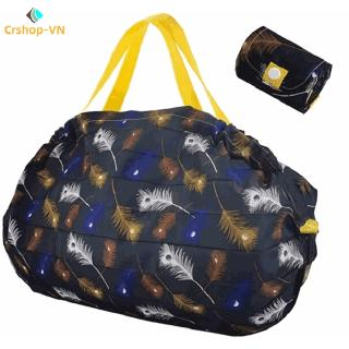 【cr】Folding Shopping Bag Memory Cloth Environmental Protection Storage Pleated Polyester Storage Bag