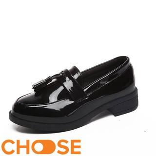 Giày Nữ Da Mọi OXFORD Choose Mẫu Lười Thời Trang Nữ Gót Cao 3cm G141K