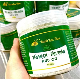 Bột rửa mặt yến mạch tảo xoắn hữu cơ Bạch Lạc Tâm