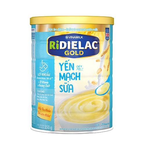 Bột ăn dặm RiDielac Gold Yến Mạch Sữa: 200gr - 350gr