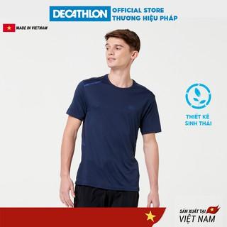 Áo thun thể thao nam KALENJI run dry + chuyên chạy bộ, nhanh khô - xanh dương đậm thumbnail