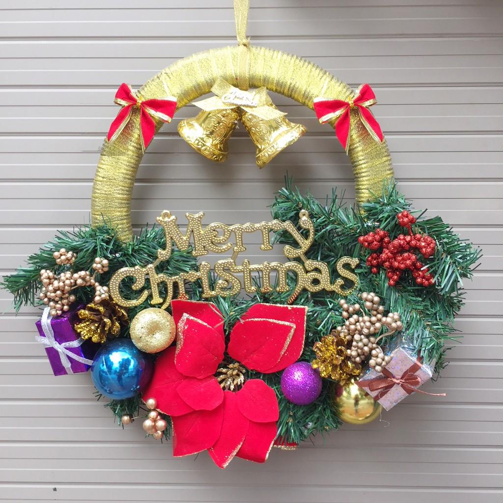 Vòng nguyệt quế trang trí Noel 40 x 40cm