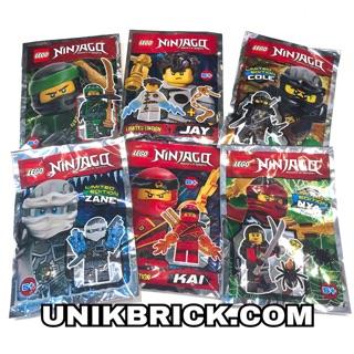 Lego UNIK BRICK COMBO 6 Foil Pack Ninjago Polybag – Combo 6 túi Ninja Limited Edition phiên bản giới hạn (như hình)