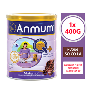 Sữa Bột Anmum Materna Hương Sô-cô-la 400g thumbnail
