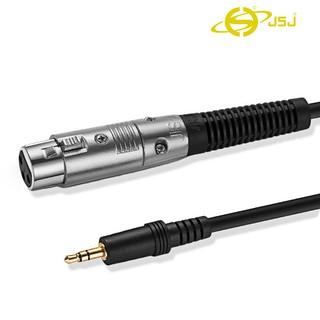 Dây canon (XLR) cái ra 3 ly (3.5mm) đực JSJ 807A dài 1m  - 5m dễ dàng tháo lắp, âm thanh trung thực, có độ nét cao
