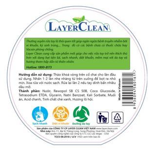 Nước rửa tay hữu cơ Layer Clean - chai 300ml-4