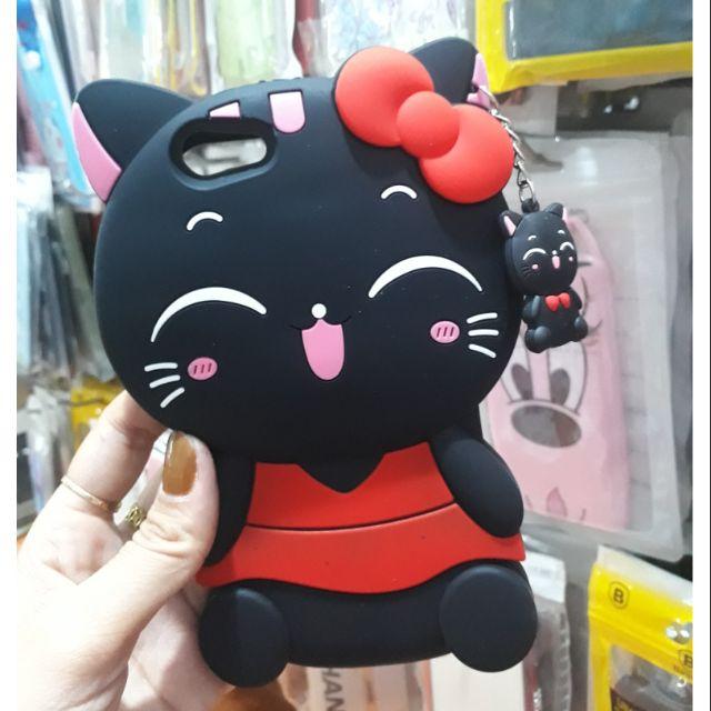 Oppo Neo 9s A39 ốp lưng mèo đen siêu dễ thương