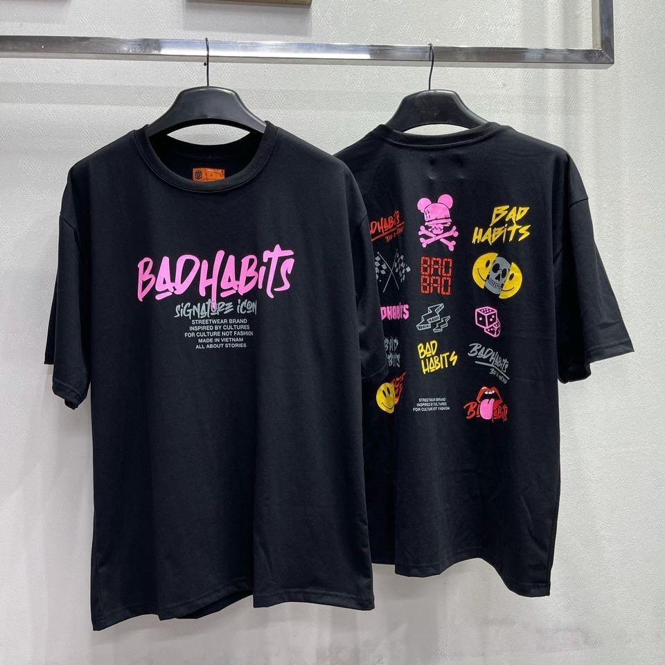 Áo thun Bad Habits cotton unisex signature local brand form rộng nam nữ