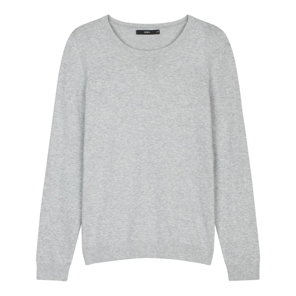 [Mã FASHIONLC20 giảm 20% đơn 399K] Áo len nữ sợi mỏng 6TE17W002 Canifa