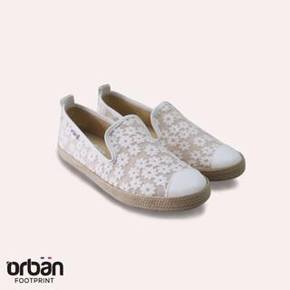 Giày sneaker Urban UL1821 thêu ren màu trắng