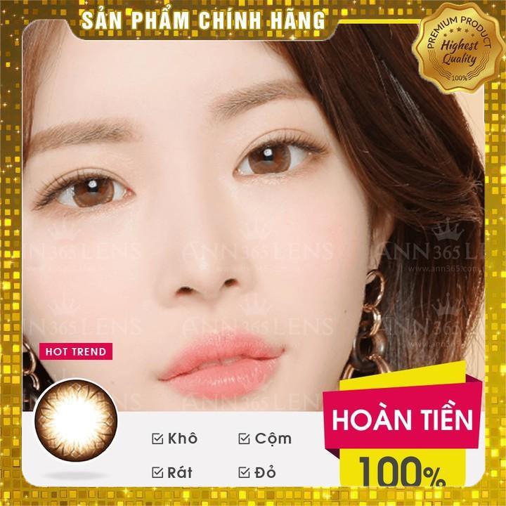 [Hàn Quốc chính hãng] Lens Mắt Cận 1 Ngày Màu Nâu Ann Brown, Kính Áp Tròng Nội Địa Hàn Cho Mắt Nhạy Cảm ( 1 Cặp )