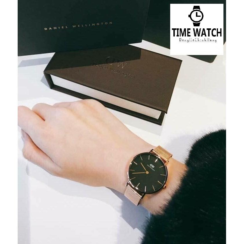 DW nữ Authentic - Đồng hồ nữ DW Petite 28-32mm Fullbox Túi Xách ,Hộp , Sách Hướng Dẫn , thẻ , tag check code hãng