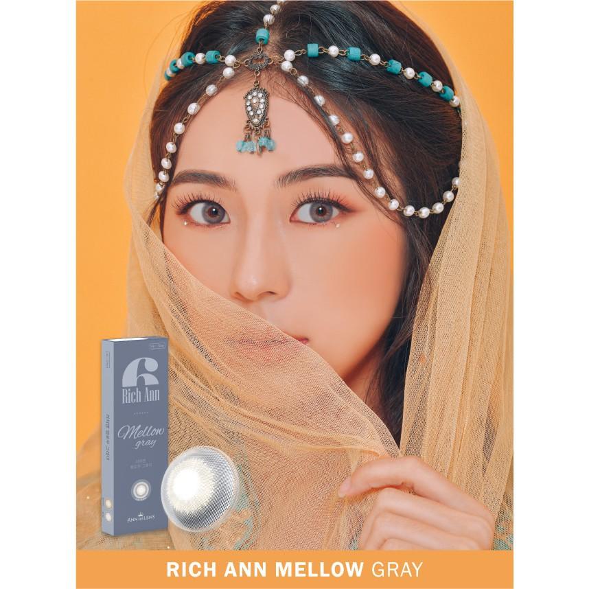 [Hàn Quốc chính hãng] Kính áp tròng Hàn Quốc, Lens cận thị màu xám – Rich Ann Mellow Gray