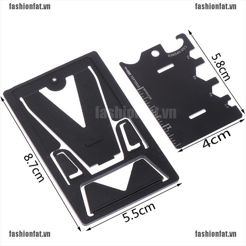 [Iron]  1Pc Folding Mobile Phone Bracket Mini EDC Card Bottle Opener Screwdriver Wrench [VN]