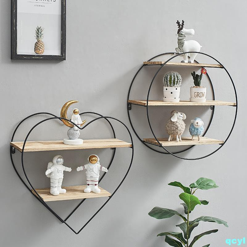 Creative home wall decoration partition rack simple modern w