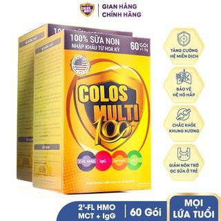 Kèm Deal Sốc - Combo 2 hộp Sữa bột Mama Sữa Non Colos Multi 100 dành cho trẻ biếng ăn, tiêu hóa kém Hộp 60 gói x 1,5g thumbnail