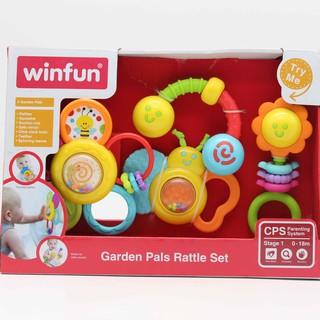 Đồ chơi Set 4 xúc sắc đồ chơi cầm tay Khu vườn của bé Winfun 3207 thumbnail
