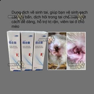[HÀNG NHẬP]Nước Rửa Vệ sinh Tai, hỗ trợ trị rận tai Cho Chó Mèo Ear Cleaning 60ml thumbnail
