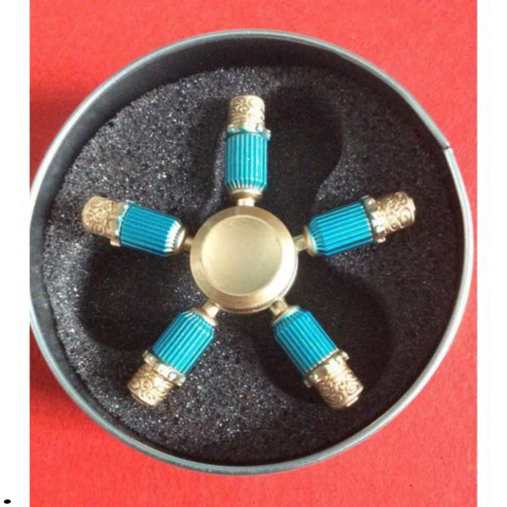 Con Quay Spinner 5 cánh xanh kim loại cao cấp