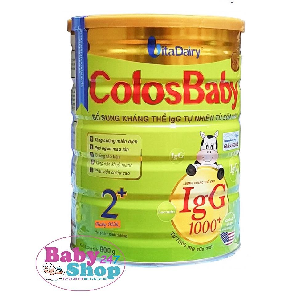 [Mã 267FMCGSALE giảm 8% đơn 500K] Sữa ColosBaby Gold 1000IgG 2+ 800g(Chính Hãng VitaDairy)