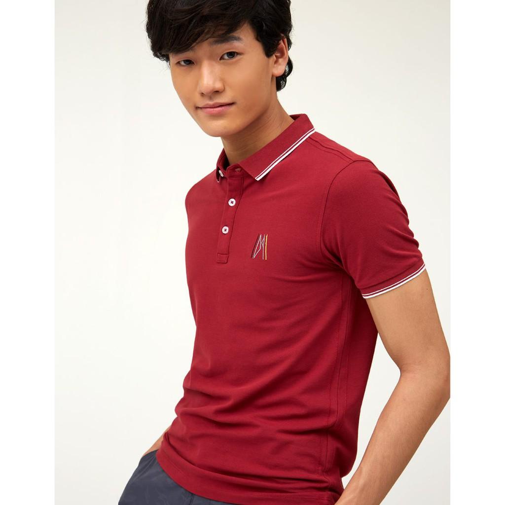 DAPPER เสื้อโปโล 'DAPPER' Embroidery สีแดง