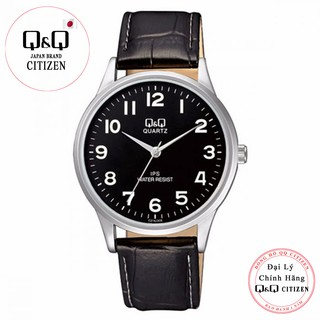 Đồng hồ nam Q&Q Citizen C214J305Y dây da thương hiệu Nhật Bản