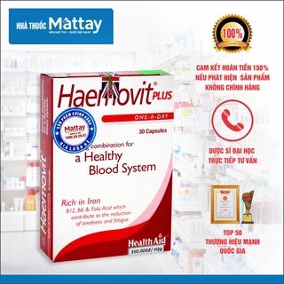 Haemovit Plus - HealthAid - Hộp 30 Viên - Giúp Bổ Máu, Tăng Cân Hiệu Quả thumbnail