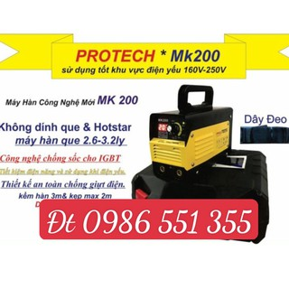 MÁY HÀN ĐIỆN TỬ PROTECH MK-200E CHỐNG GIẬT – MÁY HÀN ĐIỆN TỬ HÀ ĐƯỢC ĐIỆN THẾ THẤP PROTECH MK-200E