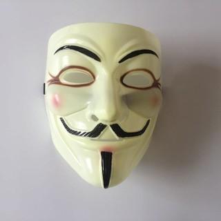 Mặt nạ Hacker mặt nạ Anonymous màu vàng kẻ mắt-g61 |buttanghinh