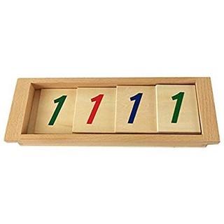 Giáo cụ Montessori – Thẻ số hệ thập phân 1111