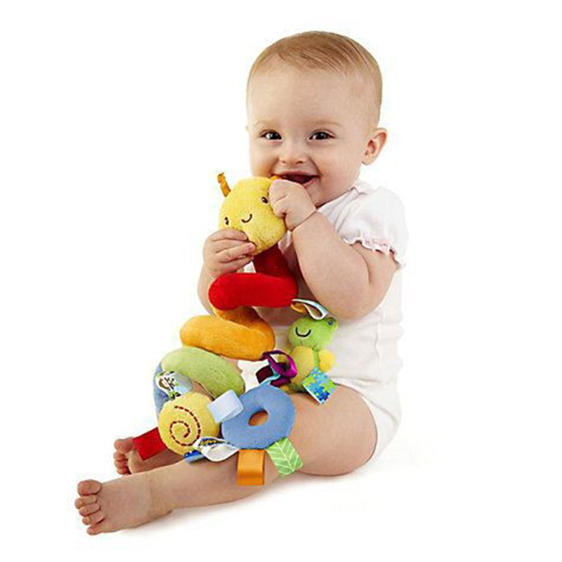 Baby Kids Stroller Bed Around Spiral Hanging Bell Rattle Activity Soft Toys