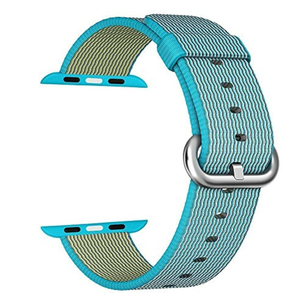 Dây đeo cho Apple Watch, Scuba Blue Woven Nylon 42-44mm