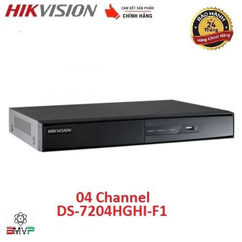Đầu ghi hình 4 kênh Turbo HD 3.0 Hikvision DS-7204HGHI-F1 - Hàng chính hãng