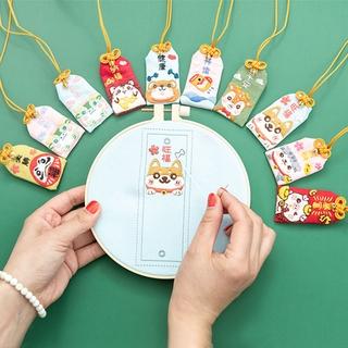 Nghề Thêu Tự làm-bao gồm cả vòng hoa thêu Tự làm gói hoạt hình bài tập thêu dễ thương Quà tặng thủ công mèo Shiba Inu, hươu và gấu thumbnail