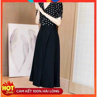 [Mua Váy Tặng Áo - Có Ảnh Thật] Đầm Xòe Đẹp Dài Qua Gối Váy Lụa Cao Cấp Dự Tiệc, Công Sở, Đám Cưới, Đi Biển thumbnail