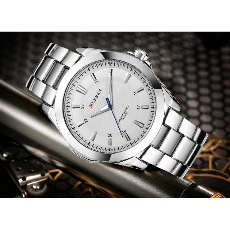 Đồng hồ Quartz CURREN 8109 chất liệu thép không gỉ chống thấm nước thời trang cao cấp