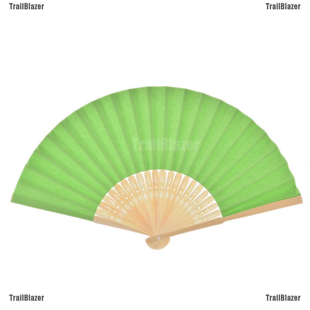 Quạt giấy gấp bằng tre phong cách Trung Quốc