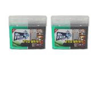 Bộ 2 Hộp gel khử khuẩn tủ lạnh than hoạt tính Mr Fresh – Korea 300g/ Hộp