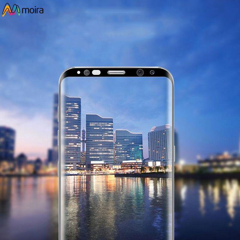 ☽ 3D Curved Tempered Glass Cover Screen Protector For Samsung Galaxy S8+ Moira