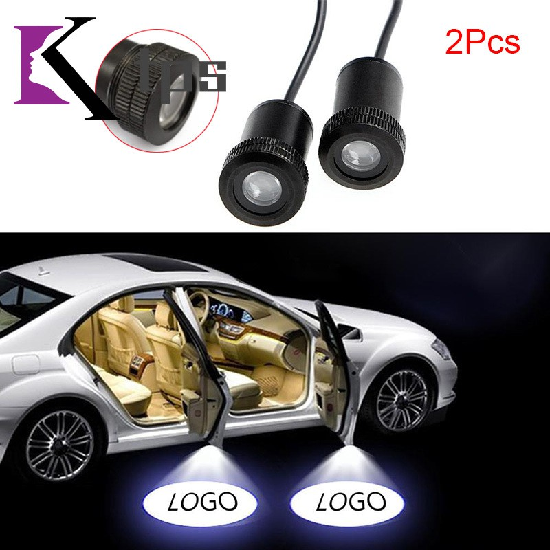 2 Pcs Universal Car LED Door Ghost Shadow Welcome Lamp Logo Projector Light