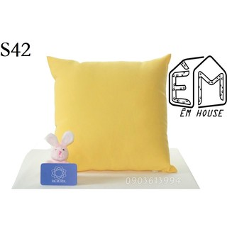 Vỏ gối ôm tựa sofa cao cấp 40x40cm màu trơn