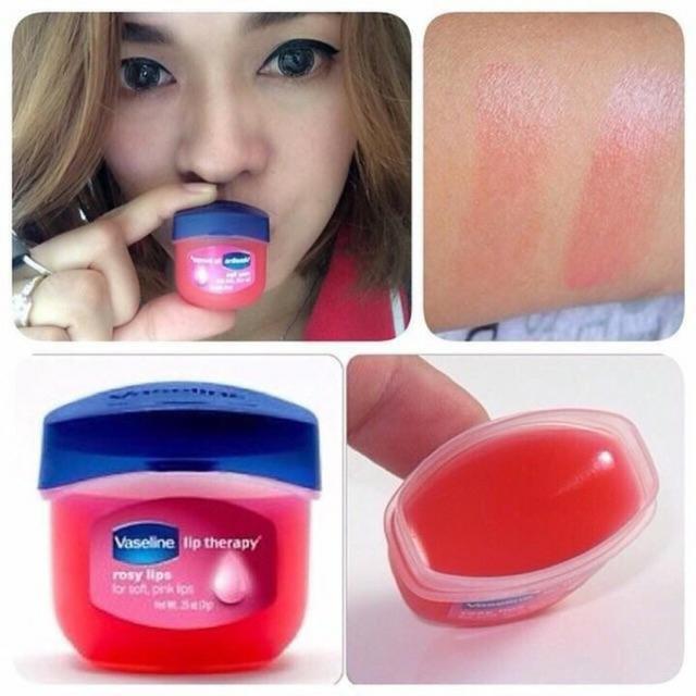 Son dưỡng môi mềm mại hồng hào, chống nứt nẻ, bong tróc Vaseline Lips Therapy 7g dạng sáp