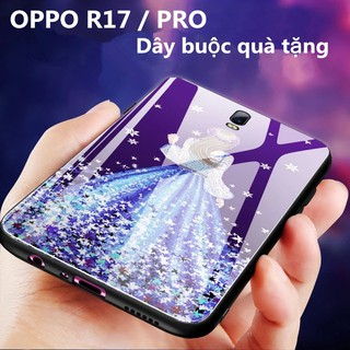 For OPPO R17/Pro Soft Silicone Strap Casing Wristband Girl Pattern Back Cover