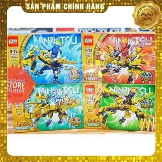 [Hot] Lego OBM-99575 Lắp Ráp Rồng Bay 3 Đầu NinjaGo 4 in 1 ( 512 Mảnh – Vàng ) [ Có Sẵn ]