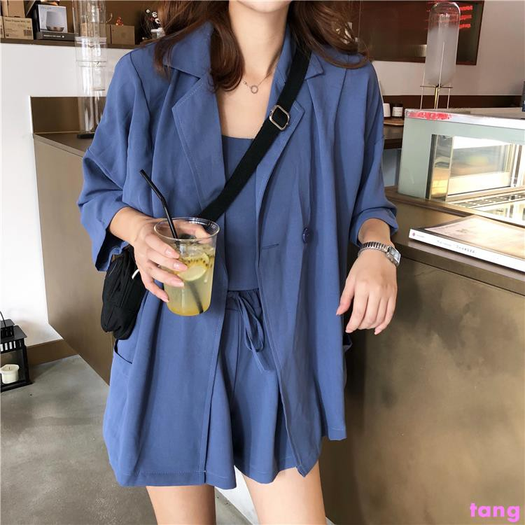 Fashion suit female early autumn new wild small strap + temperament suit jacket