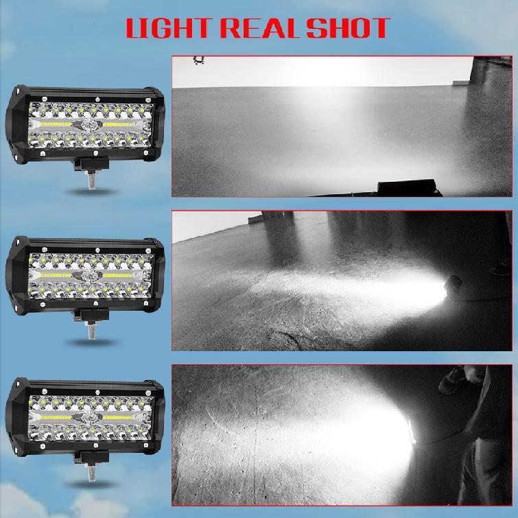Đèn LED 72W DC 9-30v chống thấm nước và bụi dùng cho xe ô tô đường trường và phụ kiện