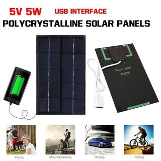 Tấm pin năng lượng mặt trời 5V 5W cổng USB