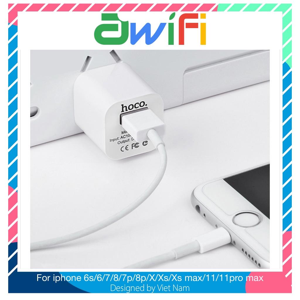 Củ sạc hoco UH102 Chính hãng cao cấp hỗ trợ sạc nhanh cho điện thoại iPhone iPad airpod tai nghe - Awifi Case L2-4