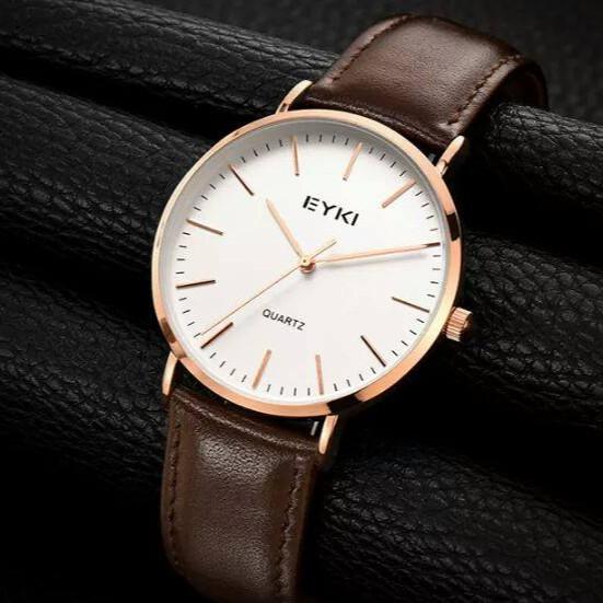 Đồng hồ nam EYKI 40mm dây da nâu Classic - EYKI MT
