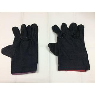 5k/1 đôi găng tay vải bò (gang tay - bao tay chất liệu vải bò)
